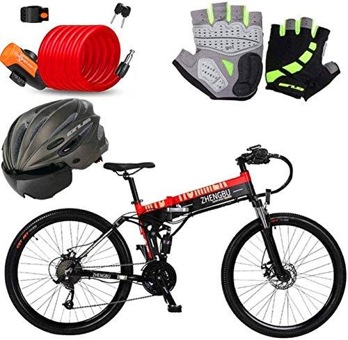 Bici electrica, Bicicletas eléctricas rápidas for adultos de 26 pulgadas eléctrico Montañas Playa Nieve bicicletas - 240W bicicleta eléctrica con 48V / 10Ah extraíble de iones de litio for adultos 27