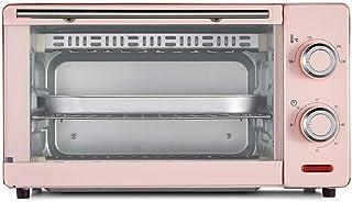 Horno eléctrico de 11L, mini horno Horno de banco 1000W 60 minutos Temporizador doble parrilla Incluye bandeja de escoria separada 8 alitas de pollo, pastel de gasa de 8 pulgadas (color: azul)