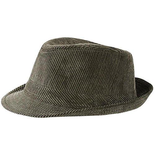 MYRTLE BEACH - chapeau TRILBY Hip hop coton cotelé velours - MB6539 VERT OLIVE L/XL - mixte homme/femme - taille 58 cm