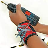 DEDSO Super Magnetic Wristband, Keeps Screws, Nails and Tools Handy While Working (Assorted Colour)