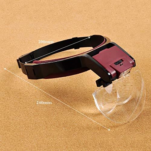 MJY Tragen Eines Tests, Lupe Mit Led-Licht Lesung Handy-Uhr Uhr Uhr Uhr High-Definition-Stickerei Wartung
