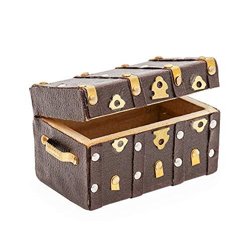 Odoria 1/12 Miniatura Cajas de Joyas con Cubierta de Cuero Decorativo para Casa de Muñecas