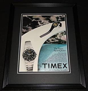 1982 Timex Sports Quartz Watch 11x14 Framed ORIGINAL Vintage Advertisement
