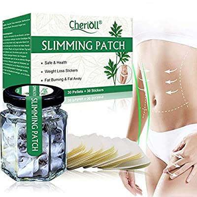 Weight Loss Sticker, Slimming Patch, Quick Slimming, Fat Burning Abdominal Fat Away Sticker, For Beer Belly, Buckets Waist, Waist Abdominal Fat, Quick Slimming 30pc (30 Pellets + 30 Stickers)