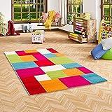 Kinder Teppich Savona Kids Karo Bunt Design Multicolour in 5