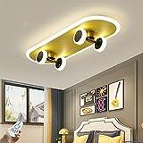 Plafonnier LED Skateboard Plafonnier Moderne Dimmable Avec Télécommande Plafonnier 32W Acrylique Garçons Et Filles Chambre Enfants Salon Éclairage L60cm