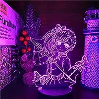 鬼滅の刃3DLedナイトライトイリュージョン照明 3Dイリュージョンキメツノヤイバクリスマ Ledナイトライトデーモンスレイヤースギフト用アニメテーブルランプ-16色リモート