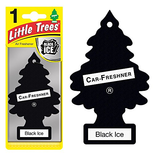LITTLE TREES Car Air Freshener   Hanging Paper Tree for Home or Car   Black Ice   72 Pack