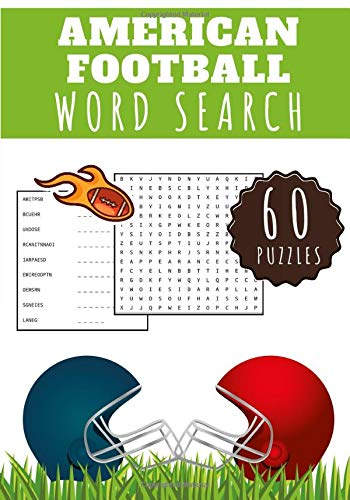 American Football Word Search: Challenging Puzzle book For kids and adult   60 puzzles with word searches and scrambles   Find more than 400 words`  ... Character   Funny Gift for Football Lover's.