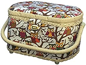 Michley Sewing Basket with 41-PC Sewing Kit