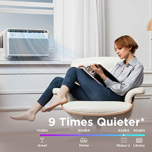 Midea U Inverter Window Air Conditioner 12,000BTU, The First U-Shaped AC with Open Window Flexibility, Easy & Quick Installation,Extreme Quiet, 35% Energy Saving, WiFi,Alexa,Remote, Bracket Included