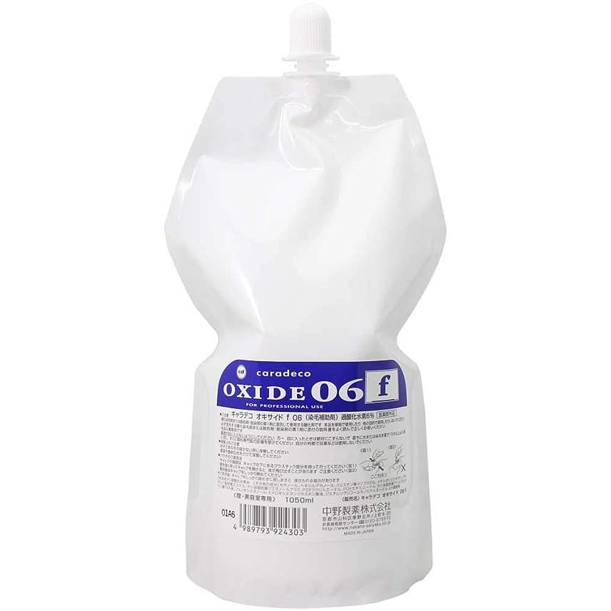狭いありがたい幻滅【ナカノ】キャラデコ オキサイドf 06 第2剤 (過酸化水素6%) 1050ml