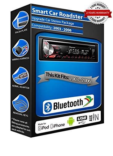 Pioneer Roadster DEH-3900BT - Autoradio con USB, CD, MP3, AUX, Bluetooth