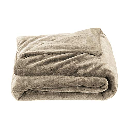 Brookstone Innovations Weighted Throw Blanket - Measures 48 in. x 72 in. - 12 Pound Weight - Taupe