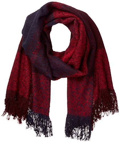 ONLY Damen onlPESA WEAVED CHECK SCARF ACC NOOS Schal, Mehrfarbig (Port Royale Checks:Night Sky/Rumba Red), One Size