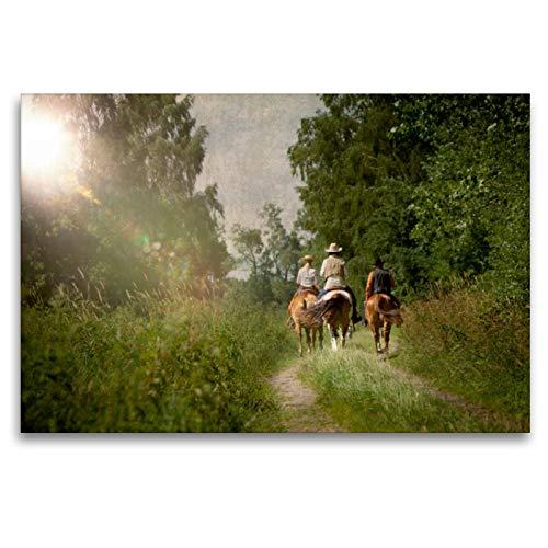 CALVENDO Premium Textil-Leinwand 120 x 80 cm Quer-Format Mecklenburgs Wilder Westen, Leinwanddruck von Martina Wrede