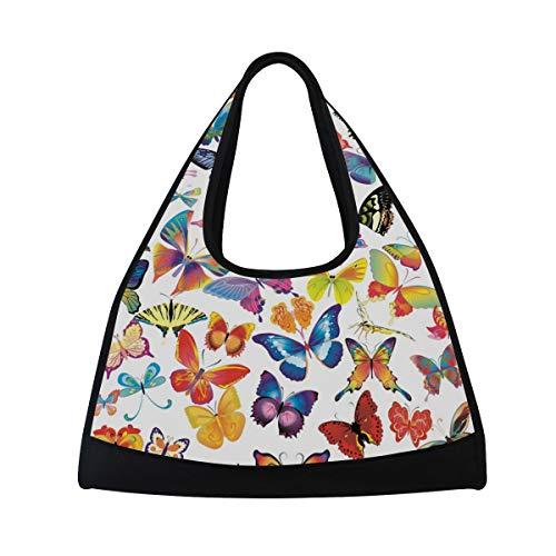 TIZORAX - Borsone da viaggio con farfalle colorate