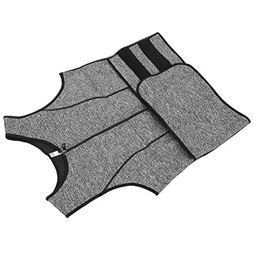 Chaleco de sudor, chaleco de fitness para hombre Chaleco de sudor para hombres Chaleco de pérdida de peso Chaleco de faja corporal para gimnasio en casa(grey, XXL)