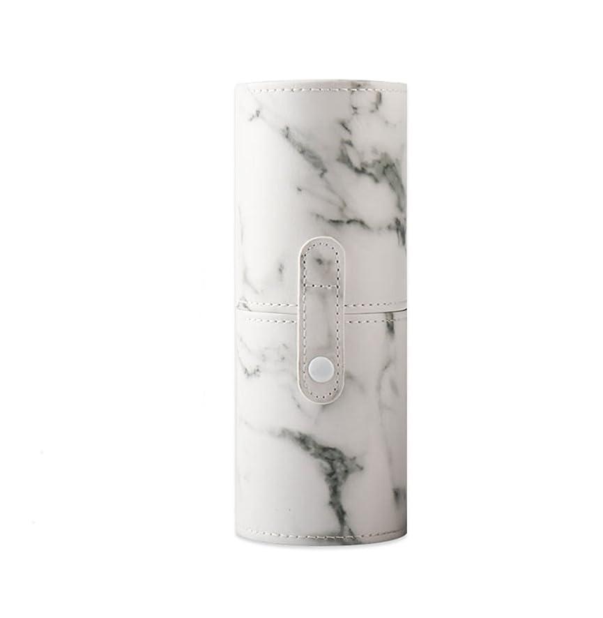 勇気工業化する延ばすKINGZUO メイクブラシホルダー 専用収納 コスメケース ボックス 文具ケース PUレザー 旅行 小物収納 携帯便利 化粧カップ  約12本収納