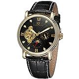 Forsining da uomo in vera pelle per orologio da polso con fasi lunari FSG800M3G4 automatico