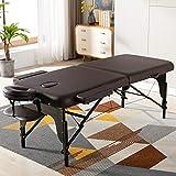 AWQM Massage Table Portable Massage Bed 2 Folding 84 Inch Wooden Frame Lightweight...