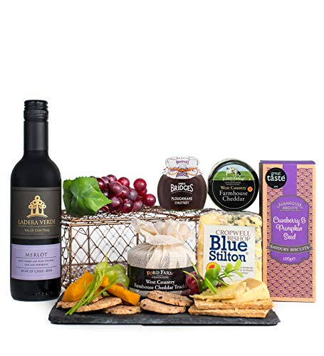 Wine and Cheese Selection - Free Delivery - Cheese Hampers - Cheese and Wine Hampers - Cheese and Wine Gifts - Christmas Cheese Gifts