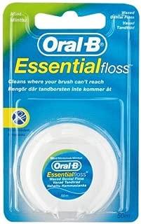 Oral B Essential Waxed Mint Floss, 50 M