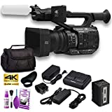 Panasonic AG-UX90E 4K-UHD FHD Camcorder (50 Hz/PAL Model) with Soft Padded Case + Cleaning Kit and More - Base Bundle