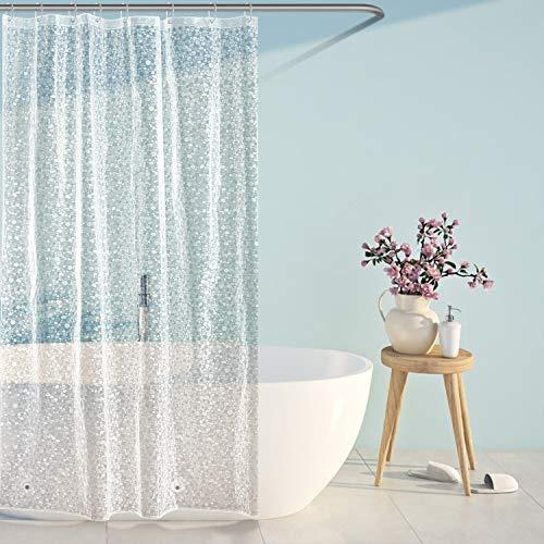 SPARIN [120x180cm Duschvorhang Anti-Schimmel, PEVA wasserdichter Badvorhang mit 12 Duschvorhangringen, [Anti-Schimmel] [Anti-Bakteriell] [Umweltfreundlich] [Waschbar]
