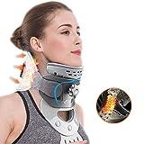 La tracción del Cuello Dispositivo admite Cervical para aliviar el Dolor, Collar del Cuello con calefacción Neck Pad Corrige la Postura Científicamente