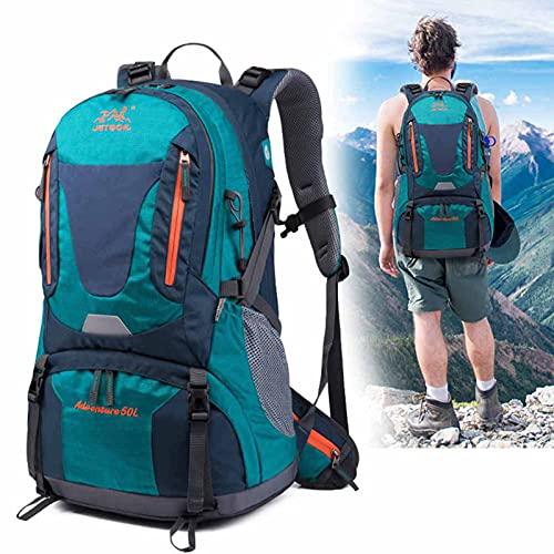 Mujer Montañismo Sports Mochila,Men Al Aire Libre Cámping Bolsa de Viaje,Ajustable Bandolera,Impermeable Nylon,Alta Capacidad 36-55L,Verde