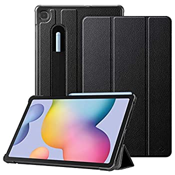 Fintie Slim Case for Samsung Galaxy Tab S6 Lite 10.4   2020 Model SM-P610  Wi-Fi  SM-P615  LTE  with S Pen Holder - Lightweight Trifold Stand Hard Back Cover Auto Wake/Sleep Black
