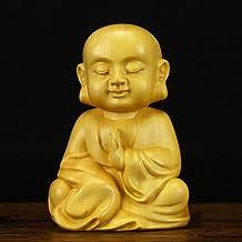 Figurines Statue Small Boxwood Sakyamuni Statue Buddha Statue Guanyin Dizang Bodhisattva Figurines Mahogany Buddha Semi-Ha...
