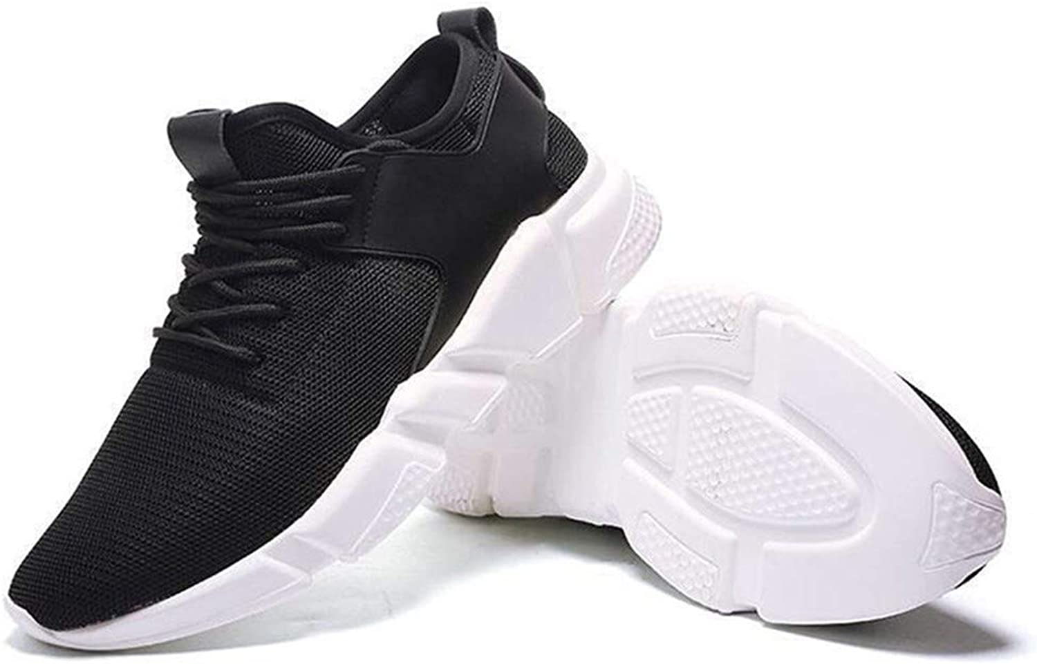 Pophight Casual Fashion Sneakers Lightweight Breathable Athletic Sport shoes Black