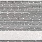 englisch dekor Gardinenstoff Streifenmuster weiß Store