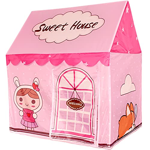 Girls Tent Kids Play Tents for Girls Playhouse Indoor Tent for Kids, Girls, Babies and Toddlers, Gift Idea Toys for Girl Clubhouse