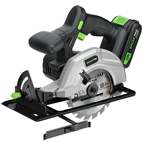 GALAX PRO 140mm Cordless Circular Saw 20V with 2 Blades...
