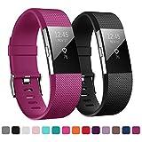 KUTOP Fitbit Charge 2 Bracelet, Remplacement du Bracelet de Montre en TPU Silicone Molle Sportif et...