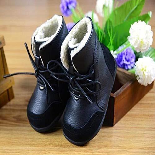 Liujingxue kinderwinterschoenen, meisjes sneeuwlaarzen, leer kinderen warm skischoenen schoenen Martin opladen, maat: 23, warm gevoerde winterlaarzen sneakers
