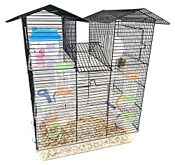 commercial A large five-story habitat for Syrian hamsters with two tower rodent gerbil rat wire cages for animals … sam hamster cage