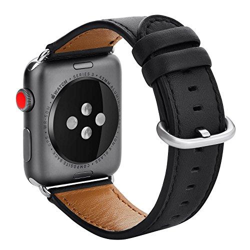 Kades Apple Watch Leather Band 42 mm Black-