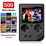 FAITHPRO Handheld Game Console with Built in 500 Games, 3 Inch Screen USB Charger Supports TV Output Video Game Console for Kids and Adults