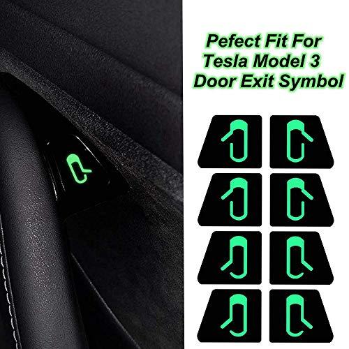 Tickas Car Door Open Exit Sticker Decal Interior Decoration para Tesla Model 3