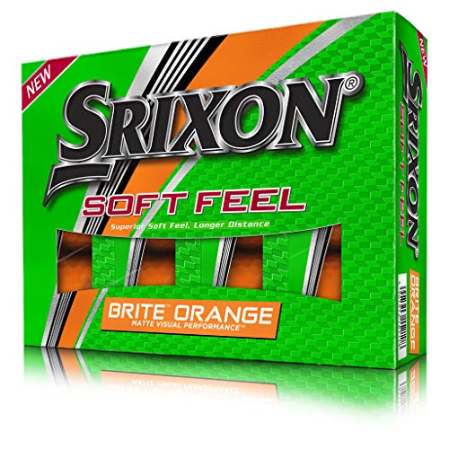 Srixon Soft Feel Golfbälle, matt, 12 Stück, Unisex-Erwachsene, Soft Feel Brite, Orange, Large