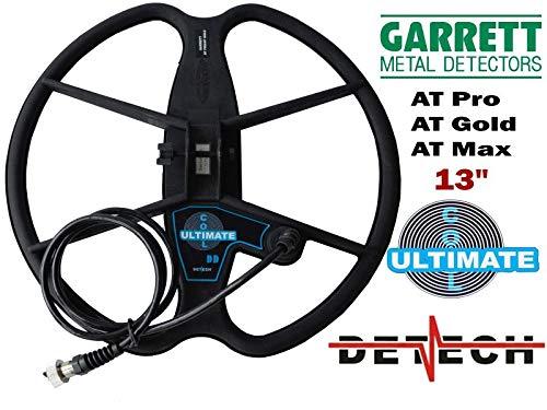 DETECH Bobina de Búsqueda DD DE 13 Pulgadas para Garrett AT Pro, AT Gold y AT MAX Detectores de Metal...
