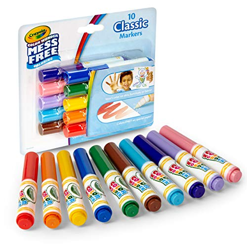Crayola Color Wonder Mini Marcadores, Multicolor, 15,24 x 17,14 x 3,55 cm