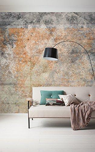 Komar - vlies fotobehang SURFACE - 300 x 250 cm - behang, muur decoratie, beton-look, betonnen wand, stenen wand - 166-DV3