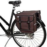 BikyBag Model M - Alforjas dobles para bicicleta - Bolsa de bicicleta para bicicleta trasera (marrón)
