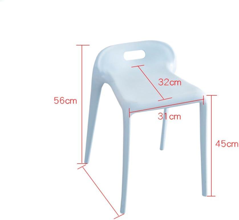 Président WGZ- Tabouret en Plastique épaississement Adulte dinant la Chaise Simple (Color : D) B
