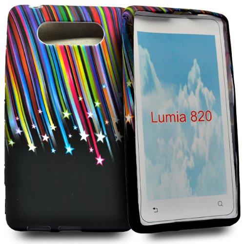 Accessory Master - Custodia Rigida per Nokia Lumia 820, Motivo: Stelle cadenti